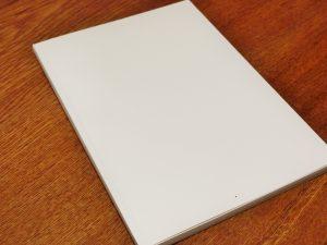 1冊の手帳 表紙は真っ白
