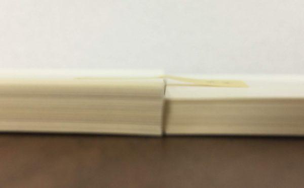 4冊版と3冊版厚み比較